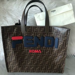 Fendi Roma w Fila tote bag 2018 collection Mint!